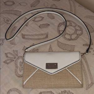 Kate Spade Basket Weave &  Leather Crossbody Bag